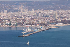 General view of Varna, the sea capital of Bulgaria Stock Photos