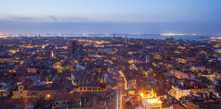 General view of Venice from above at sunset Stock Photography