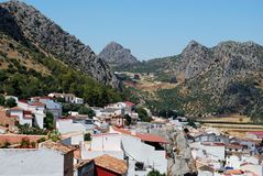 White village, Benaojan, Andalusia. Royalty Free Stock Image
