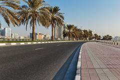 A general view of the waterfront of Sharjah Stock Image