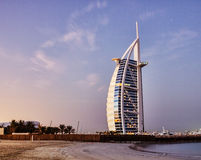 A general view of the world's first seven stars luxury hotel Bur Stock Image