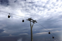 General views of Awana Sky cable cars in Genting Highland. Malaysia on June 13, 2017 Stock Image