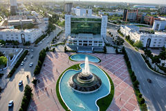 General Views to the main square. Ashkhabad. Turkmenistan Royalty Free Stock Image