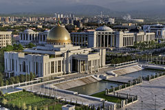 General Views to the president palace. Ashkhabad. Turkmenistan Royalty Free Stock Photography