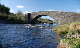 General Wade Bridge. Bridge designed by General Wade, on the old 18th century military road, spanning the river Orchy in the highlands of scotland royalty free stock image