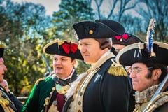 General Washington med hans tjänstemän på jul Royaltyfria Foton