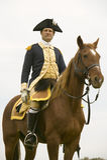 General Washington mira sobre sus tropas Fotografía de archivo