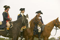 General Washington waits with staff to march to Surrender Field at the 225th Anniversary of the Victory at Yorktown, a reenactment Stock Photo