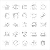 General website hand drawn doodle icons Stock Photography