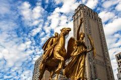 General William Tecumseh Sherman Monument i New York Arkivbild