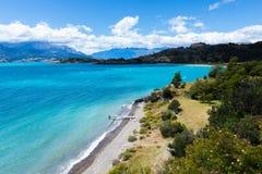Generale Carrera del lago nel Cile Fotografia Stock