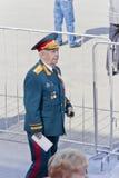 Generale russo sulla celebrazione alla parata sulla vittoria annuale D Fotografia Stock