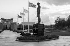 Generale Shelton Monument, Fayetteville NC-12 Janurary 2012: Dedicato ai soldati di WWII fotografie stock