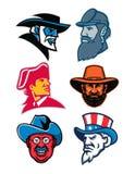 Generali e raccolta americani della mascotte dello statista Fotografia Stock