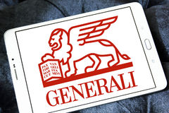 Generali insurance logo. Logo of generali insurance company on samsung tablet Royalty Free Stock Image