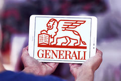 Generali insurance logo. Logo of generali insurance company on samsung tablet Royalty Free Stock Photography