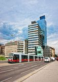 Generali Media Tower in Leopoldstadt in Vienna Royalty Free Stock Photography