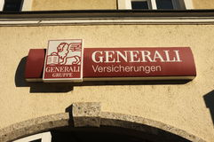 Generali Versicherungen. Subsidiary of the italian insurance group Generali in germany Stock Photography