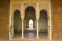 Generalife的皇家门。 库存照片