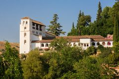 Generalife at the Alhambra Palace Stock Photography