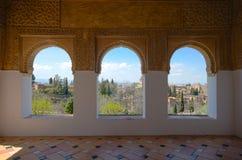 Generalife fönster Royaltyfri Fotografi
