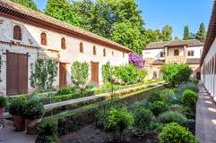Generalife gardens at Alhambra, Granada, Spain stock images