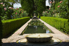Generalife gardens, Granada, Andalusia Royalty Free Stock Photo