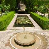 Generalife gardens, Granada, Royalty Free Stock Images