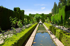 Generalife gardens, Granada, Spain Stock Photo