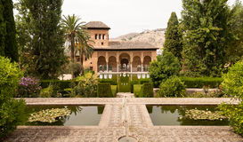 Generalife gardens inside the Alhambra palace Stock Photo