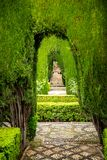 Generalife gardens Stock Photography