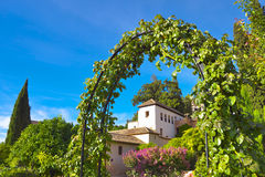 Generalife Gardens in summer. Royalty Free Stock Photography