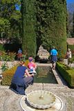 Generalife ogródy, Alhambra pałac fotografia stock