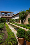 Generalife palace cortyard, Granada, Spain Stock Images