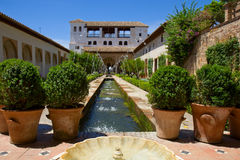 Generalife palace and garden, Granada, Spain Royalty Free Stock Image