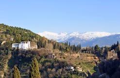 The Generalife palace and gardens, Granada, Spain Stock Photos
