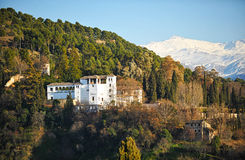 Generalife Palace and the gardens, Granada, Spain Stock Photography