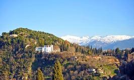 Generalife Palace and the gardens, Granada, Spain Stock Photos