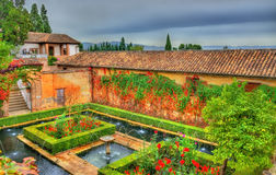 Generalife Palace in Granada, Spain Stock Photos