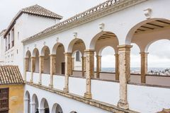 Generalife slott, sidosikt arkivfoto