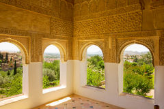 Generalife windows Granada, Spain Stock Photography