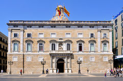 Generalitat of Catalonia Palace in Barcelona Stock Image