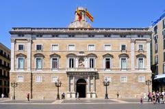 Generalitat of Catalonia Palace in Barcelona Stock Image