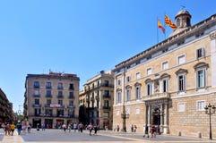 Generalitat del palacio de Cataluña en Barcelona Imagenes de archivo