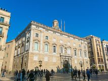 Generalitat Palace of Catalonia in Barcelona, Spain. The palace Royalty Free Stock Image