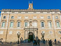 Generalitat Palace of Catalonia in Barcelona, Spain. The palace Royalty Free Stock Photos