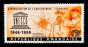 Generalization of the education technics, UNESCO 20th Anniversary series, circa 1966 Royalty Free Stock Photos