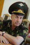 Generallöjtnant Grigory Fomenko, den militära kommendanten av Tjetjenien i 2004-2006, första ställföreträdande befälhavare av Nor Arkivbild