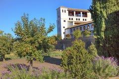 Generallife Alhambra White Palace Orange Tree Granada Andalusia Spain Royalty Free Stock Images