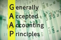 Generally accepted accounting principles Royalty Free Stock Photography